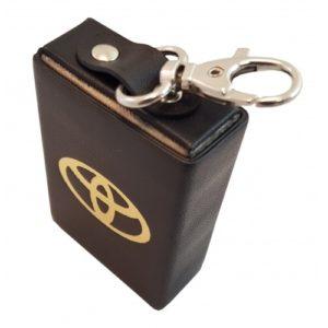 Экранирующий кожаный пенал для смарт-ключей
