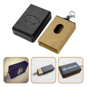 экранирующий кожаный пенал для смарт-ключей авто