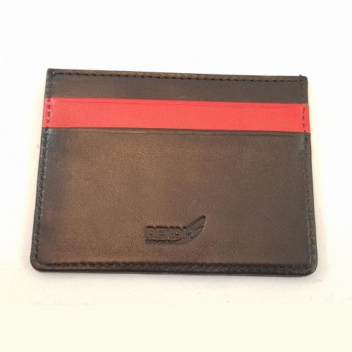 Экранирующий кожаный чехол для 5 банковских карт