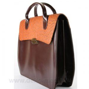 Женская кожаная сумка-портфель