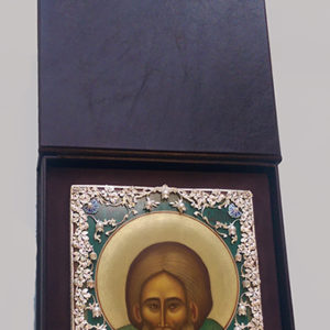 Кожаная шкатулка с флокированным ложементом под икону