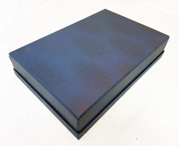 Коробка картонная, крышка-дно, каширована синим бумвинилом4