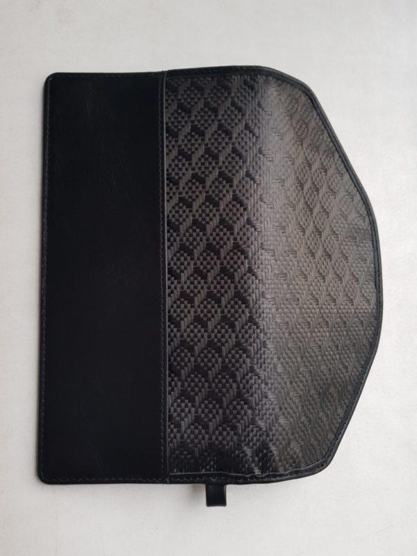 Карбоновый экранированный кожаный чехол для смартфона